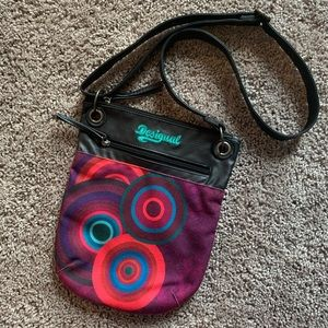 Desigual Multi Color Boho Crossbody Bag Purse